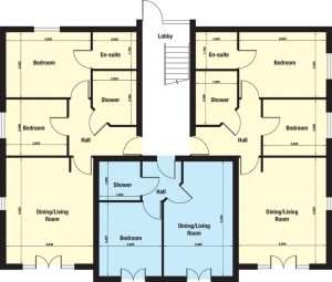 Rocklands Holiday Park Apartment floor plan