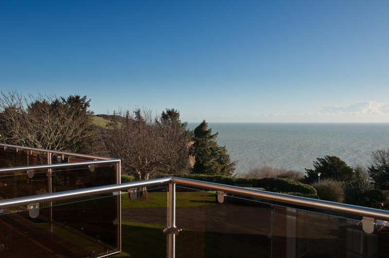 View from Rocklands Holiday Apartments over English Channel