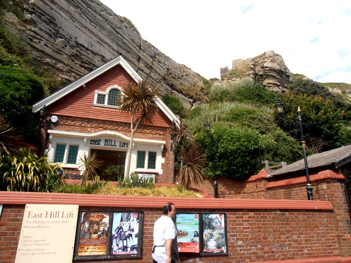 East Hill Cliff Funicular Railway in Hastings