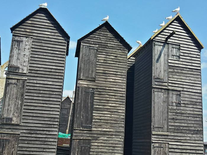 The Fishermens Net Huts Stade Hastings