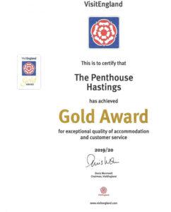 Visit England Gold Star Award